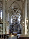 Interior of St. James Church in Kutna Hora Royalty Free Stock Photo