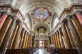 Interior of st john basilica eger hungary april on april in Stock Images