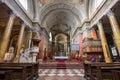 Interior of st john basilica eger hungary april on april in Stock Image
