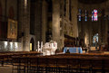 Interior of the st john the divine cathedral in new york a gothic church called Royalty Free Stock Photography