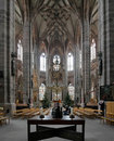 Interior of St. Lorenz Church in Nuremberg Stock Images