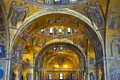 Interior of st mark s basilica venice italy on june in Stock Photos