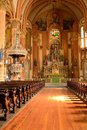 Interior of St. Mary's Assumption Church - Vertical Royalty Free Stock Photo