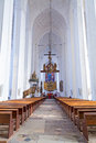 Interior st mary s basilica gdansk poland Royalty Free Stock Images