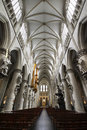 Interior of St. Michael Cathedral - Brussels Royalty Free Stock Photography