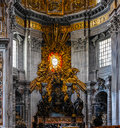Interior of St. Peter s Basilica Royalty Free Stock Photo