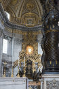 Interior of St. Peter s Basilica, Vatican, Rome Royalty Free Stock Photo