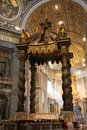 Interior of St. Peter, Vatican, Rome Stock Photos
