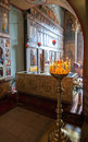 Interior of the st sophia cathedral in veliky novgorod russia august was founded Royalty Free Stock Photo