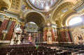 Interior of st stephen s basilica budapest hungary april on april in the is named in honor Stock Photography
