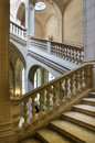 The interior stairway between the floors in the louvre paris april on april paris france game of space and light Stock Image