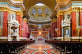 Interior of Stephen's Basilica in Budapest Royalty Free Stock Photo