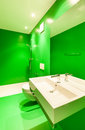 Interior stylish modern house green bathroom Royalty Free Stock Image