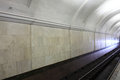 Interior of subway station a in moscow russia Stock Photography