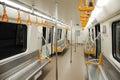 Interior of a subway train Royalty Free Stock Photo