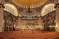 Interior of the Suleymaniye Mosque in Istanbul Royalty Free Stock Photo