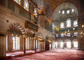 Interior of sultan ahmed mosque blue mosque istanbul turkey july the view a famous historic in turkey Stock Images