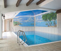 Interior of a swimming pool Royalty Free Stock Photos