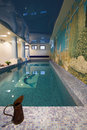 Interior of a swimming pool Royalty Free Stock Photo