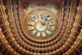 Interior of Teatro Massimo opera house, palermo, Sicily, Italy. Royalty Free Stock Photo