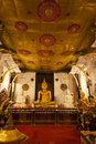 Interior of the temple of the sacred tooth relic sri dalada maligwa in central sri lanka asia Royalty Free Stock Photo