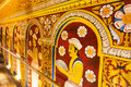 Interior of the temple of the sacred tooth relic sri dalada maligwa in kandy sri lanka central Royalty Free Stock Images