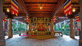 The interior of temple of the tooth in kandy sri lanka dalada maligawa Stock Photo