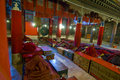 Interior of Tibetan monastery Royalty Free Stock Photo