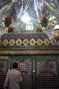 Interior of the tomb of daniel in sush susa iran Stock Photo
