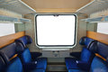 Interior of train and blank window Royalty Free Stock Photo