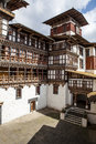 Interior of trongsa dzong in bhutan monastery and administrative building central asia Royalty Free Stock Images