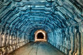 Interior of tunnel in abandoned coal mine Royalty Free Stock Photo