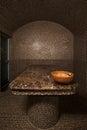 Interior of turkish bath hammam Royalty Free Stock Photo