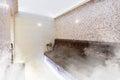Interior of Turkish sauna, classic Turkish hammam Royalty Free Stock Photo