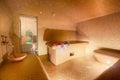 Interior of Turkish sauna, hammam at spa center. Royalty Free Stock Photo