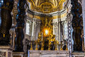 Interior view of Basilica di San Pietro in Vaticano Royalty Free Stock Photo