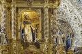 Interior  view of Church of Santo Domingo Royalty Free Stock Photo