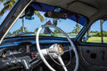 Interior view from a classic car in Varadero Cuba Royalty Free Stock Photo