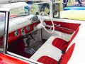Interior view of a 1955 classic convertible ford fairlane sunliner Royalty Free Stock Photo