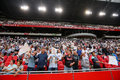 Interior view of the full Amsterdam Arena Stadium Royalty Free Stock Photo