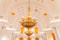 The interior view of the Georgievsky hall in the Grand Kremlin Palace in Moscow. Royalty Free Stock Photo