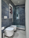 Interior view of a modern bathroom Royalty Free Stock Photo