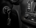 Interior view of the modern car key Stock Photo