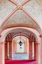 Interior view of a pink painted abbey melk in lower austria Stock Photos