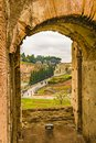 Roman Coliseum Interior View, Rome, Italy Royalty Free Stock Photo