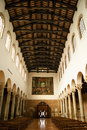 Interior view of san giovanni evangelista church ravenna italy Royalty Free Stock Image