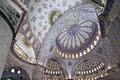 Interior view of Sultanahmet Mosque Royalty Free Stock Photos