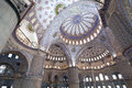 Interior view of Sultanahmet Mosque Royalty Free Stock Images