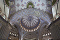 Interior view of Sultanahmet Mosque Stock Image
