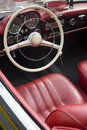 Interior of a vintage car Royalty Free Stock Photos
